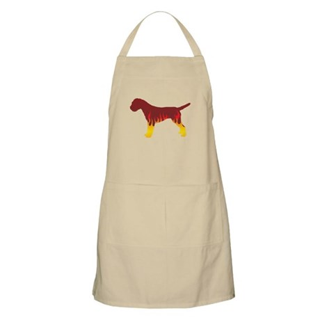 Terrier Flames BBQ Apron