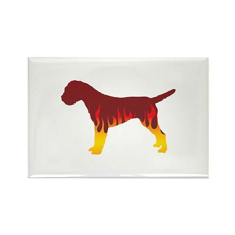 Terrier Flames Rectangle Magnet