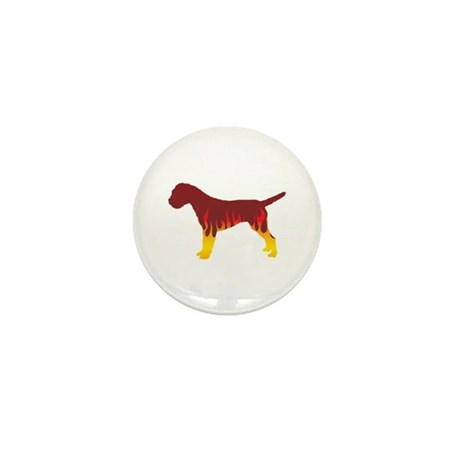 Terrier Flames Mini Button
