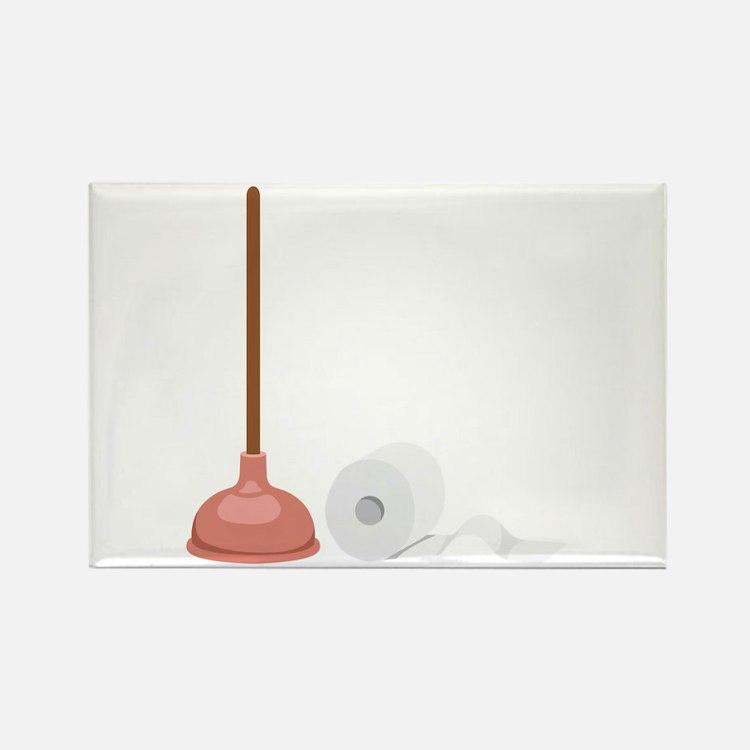 plunger magnets plunger refrigerator magnets cafepress. Black Bedroom Furniture Sets. Home Design Ideas