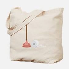 Toilet Paper Roll Plunger Tote Bag