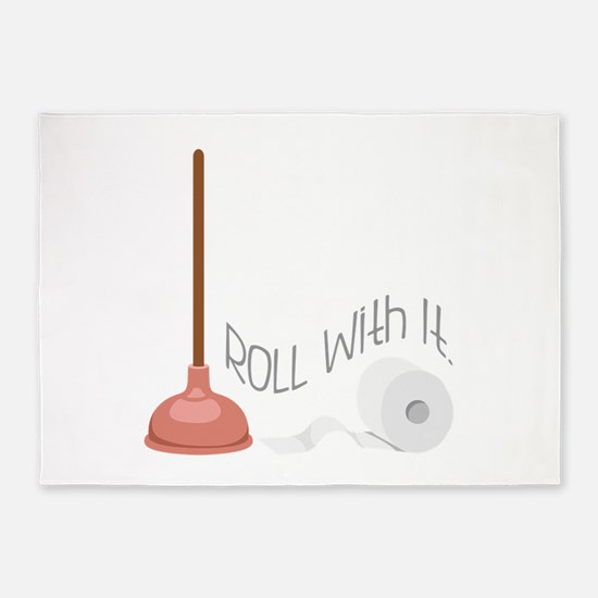 ROLL with it. 5'x7'Area Rug