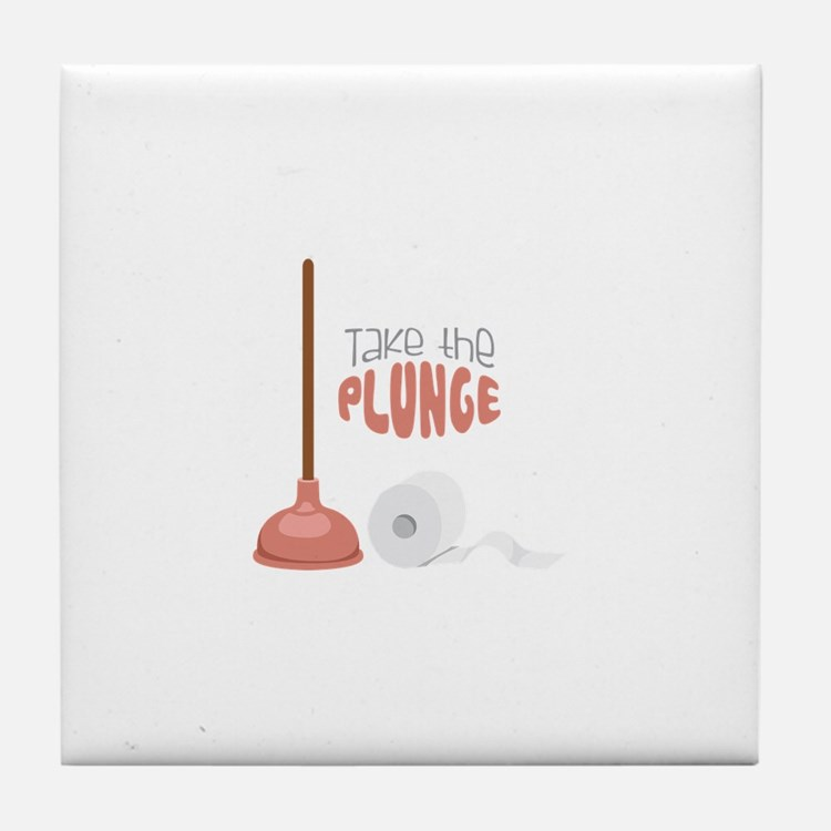 Take the PLUNGE Tile Coaster