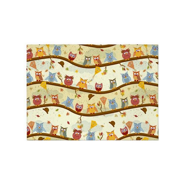 Owl Kitchen Decor Walmart: Autumn Owls 5'x7'Area Rug By Ancello