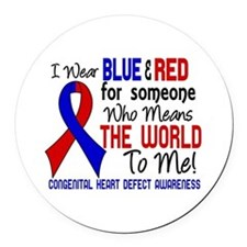 CHD Means World To Me 2 Round Car Magnet