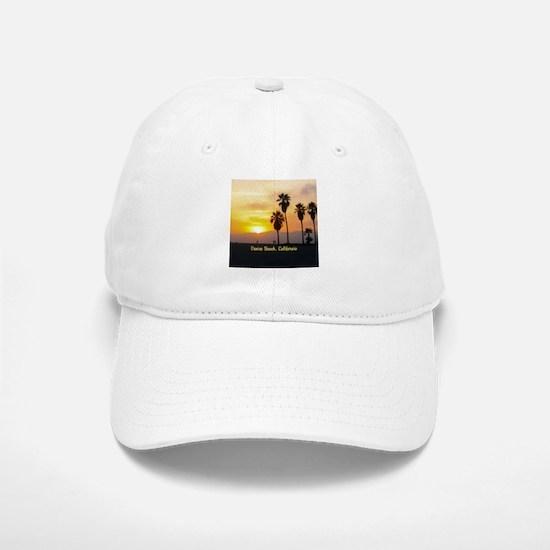 Personalized Venice Beach California Sunset Baseball Baseball Cap