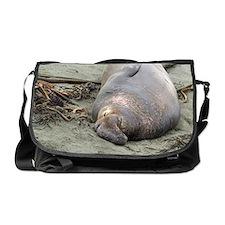 sleeping elephant seal Messenger Bag