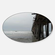 Cayucos Pier Sticker (Oval)