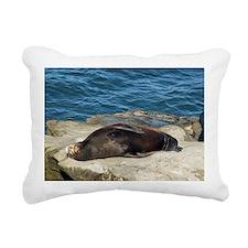 la jolla seals Rectangular Canvas Pillow