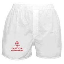 Keep Calm and trust your Veterinarian Boxer Shorts