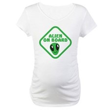 Alien on Board with green man Shirt