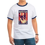 Obey the BOSTON Terrier -USA Ringer T $5 off
