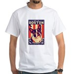 Obey the BOSTON Terrier! USA White T-Shirt