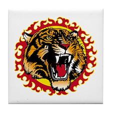 Tiger Fire Tile Coaster