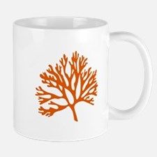 red coral silhouette Mugs