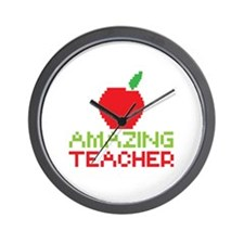 Amazing TEACHER with red apple Wall Clock