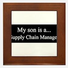 Son - Supply Chain Manager Framed Tile