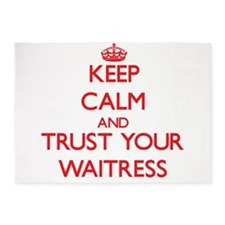 Keep Calm and trust your Waitress 5'x7'Area Rug