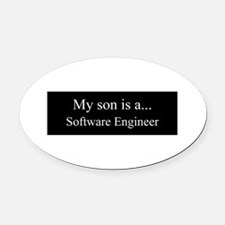 Son - Software Engineer Oval Car Magnet