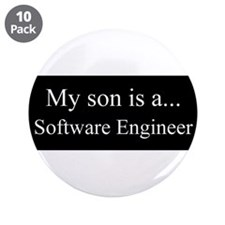 """Son - Software Engineer 3.5"""" Button (10 pack)"""