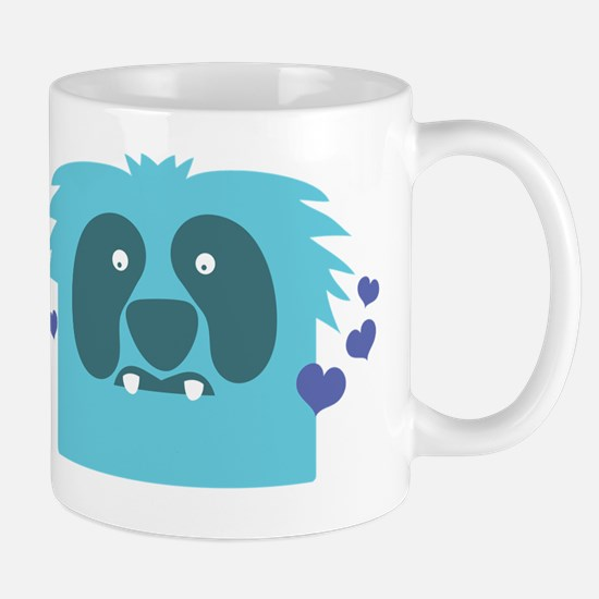 Aqua green monster Kawaii cute Mug