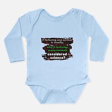 Animal Cruelty Long Sleeve Infant Bodysuit