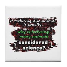 Animal Cruelty Tile Coaster