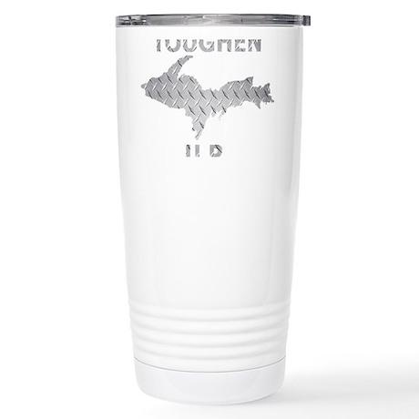 Toughen U.P. In Chrome Diamond Plate Travel Mug