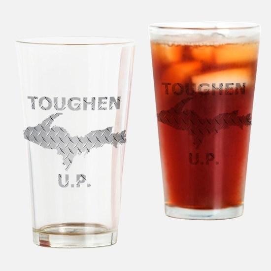 Toughen U.P. In Chrome Diamond Plate Drinking Glas
