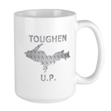 Toughen U.P. In Chrome Diamond Plate Mugs