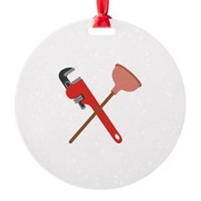 Pipe Wrench Toilet Plunger Ornament