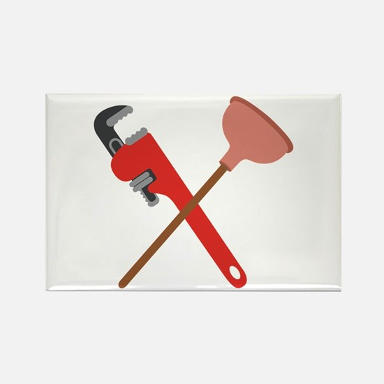 Pipe Wrench Toilet Plunger Magnets