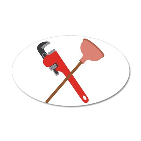 pipe wrench toilet plunger wall decal by hopscotch12. Black Bedroom Furniture Sets. Home Design Ideas