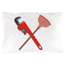 Pipe Wrench Toilet Plunger Pillow Case