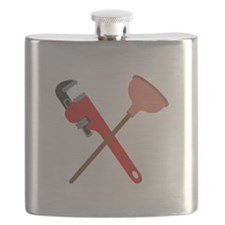 Pipe Wrench Toilet Plunger Flask
