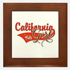 California Girl Framed Tile