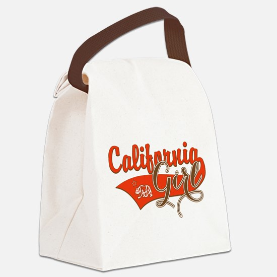 California Girl Canvas Lunch Bag