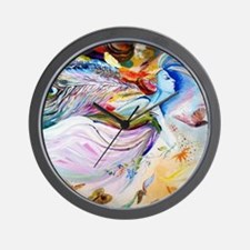 angel in the sky Wall Clock