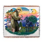 St.Francis #2/ Great Dane (bl Woven Blanket