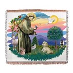 St.Francis #2 / Lhasa Apso (R Woven Blanket