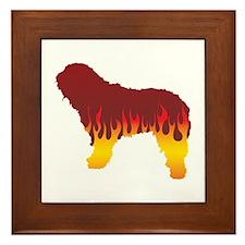 Bergamasco Flames Framed Tile