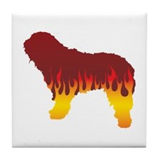 Bergamasco Flames Tile Coaster