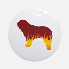 Bergamasco Flames Ornament (Round)