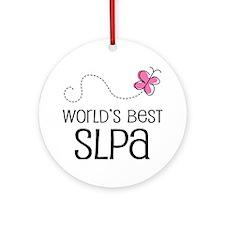 World's Best SLPA Ornament (Round)