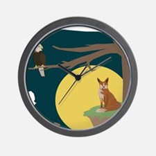 Silence Night by the Fox and the Eagle Wall Clock