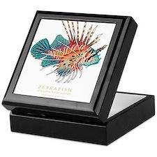Cute Zebra fish Keepsake Box