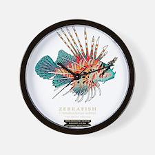 Cute Zebra fish Wall Clock