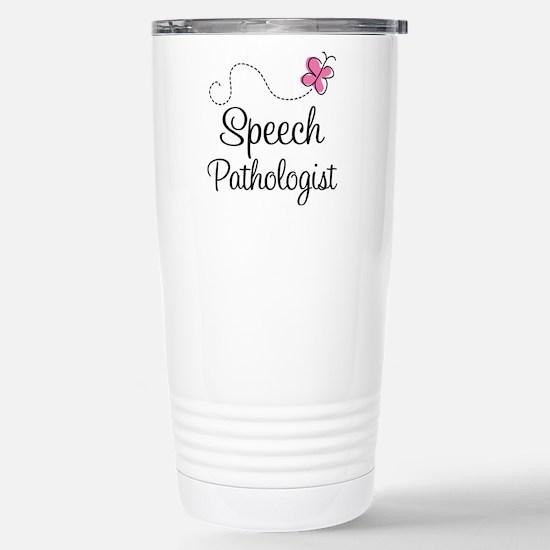 Speech Pathologist butt Stainless Steel Travel Mug