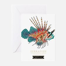 Unique Zebra fish Greeting Cards (Pk of 10)