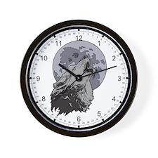 Howling Coyote Moon Wall Clock